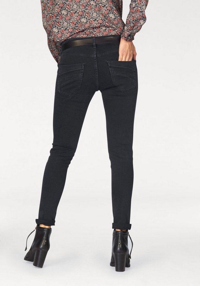 Pepe Jeans Destroyed-Jeans »Crystal« mit Nieten in black-denim