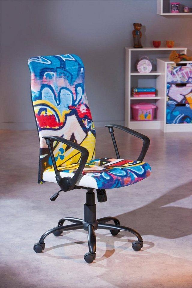 Bürostuhl »Tyke« in grafitti/schwarz