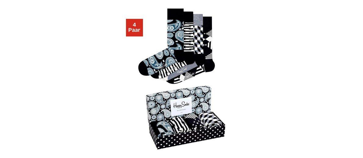 Happy Socks Modische Herrensocken (4 Paar) in der Geschenkbox