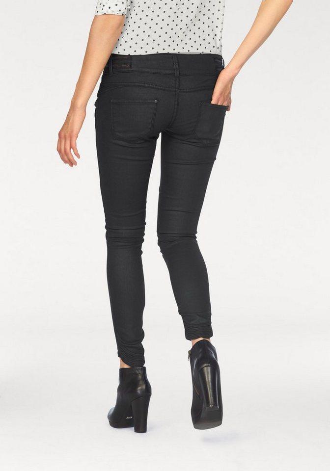 LTB Slim-fit-Jeans »Briana« mit Bikerdetails in schwarz