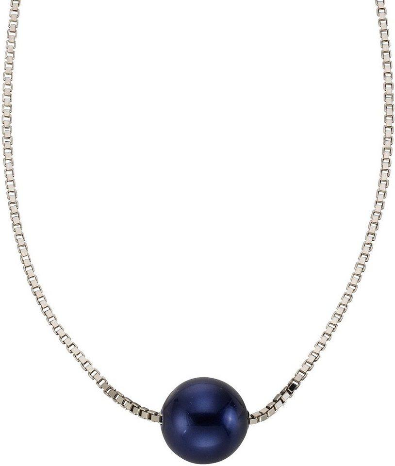 firetti Collier mit Muschelkernperle in Silber 925-blau