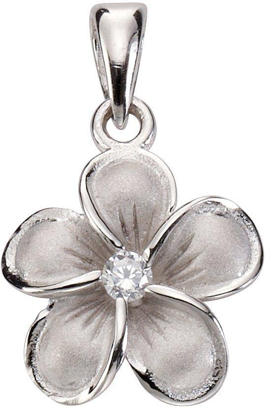 firetti Anhänger »Blume/Blüte« mit Zirkonia in Silber 925