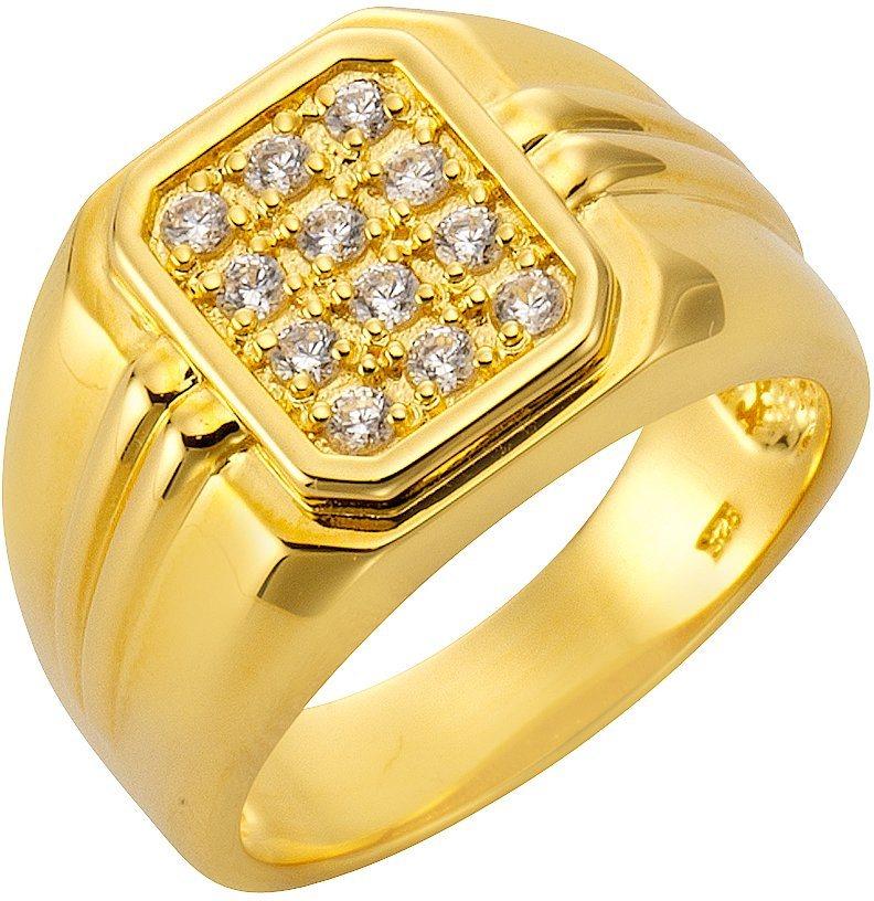 firetti Ring mit Zirkonia in Silber 925-1 Micron goldfarben vergoldet