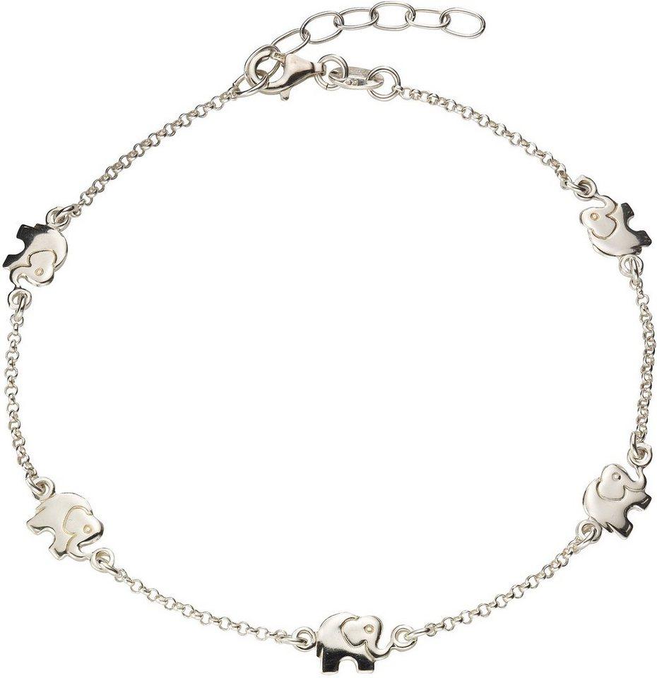 firetti Fußkette »Elefanten« in Silber 925
