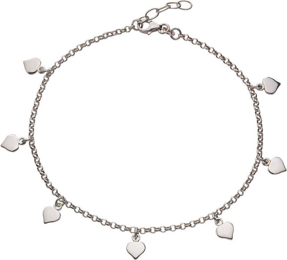 firetti Fußkette mit Anhänger »Herz« in Silber 925