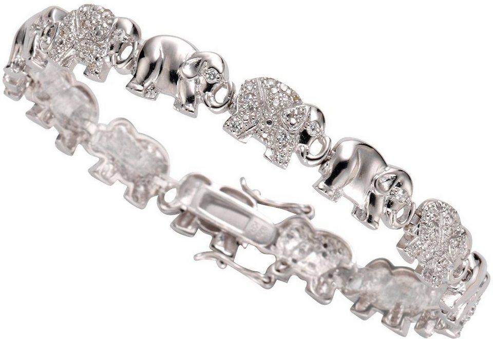 firetti Armband »Elefanten« mit Zirkonia in Silber 925