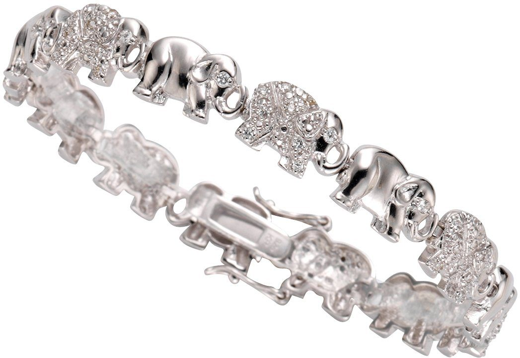 firetti Armband »Elefanten« mit Zirkonia