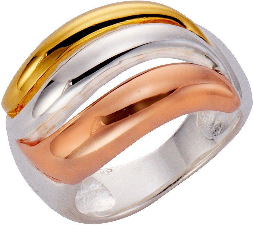 firetti Ring in Silber 925-tricolor