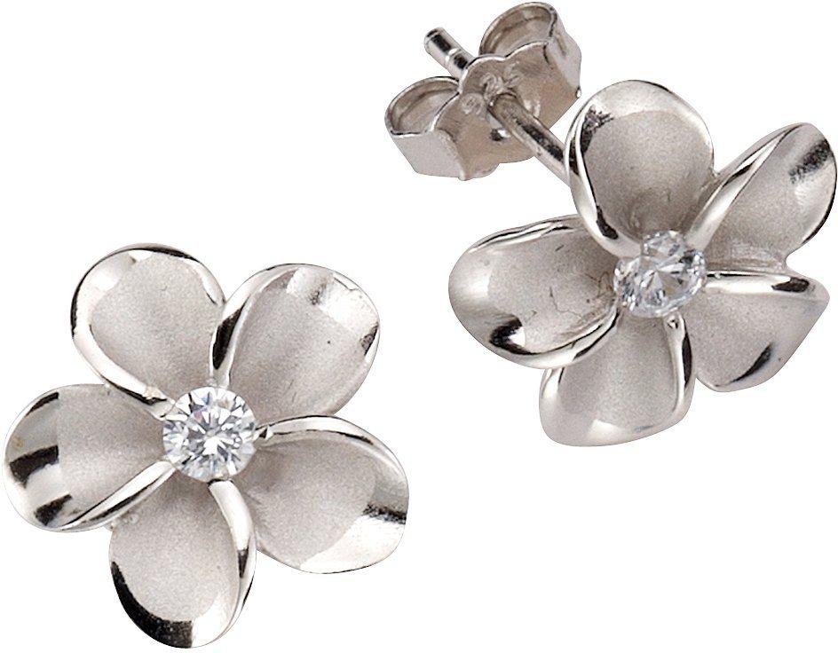 firetti Paar Ohrstecker »Blume/Blüte« mit Zirkonia in Silber 925