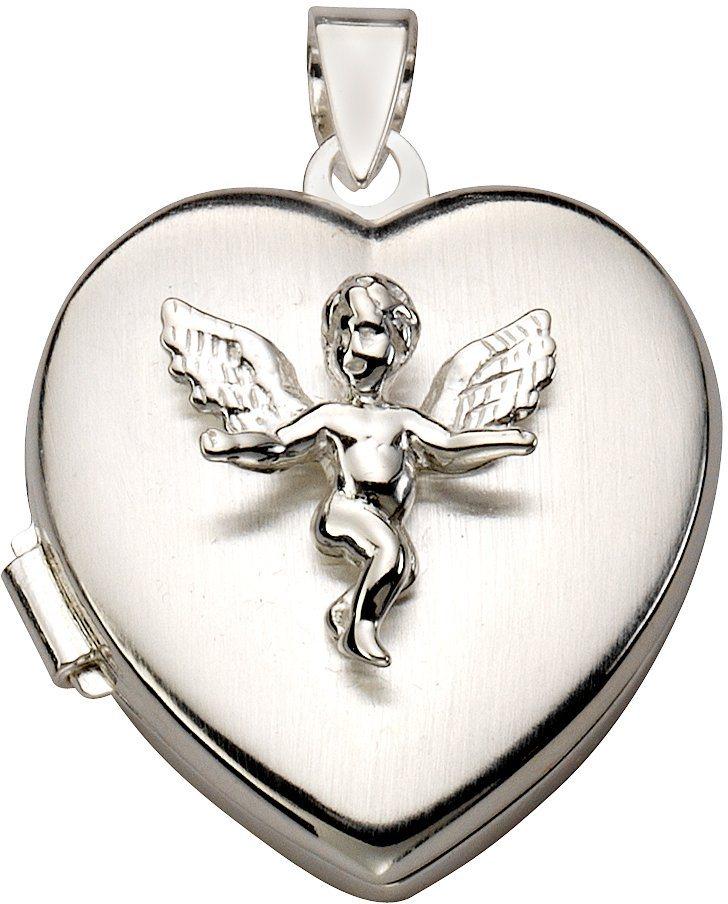 firetti Anhänger Medaillon, »Herz mit Engel« in Silber 925