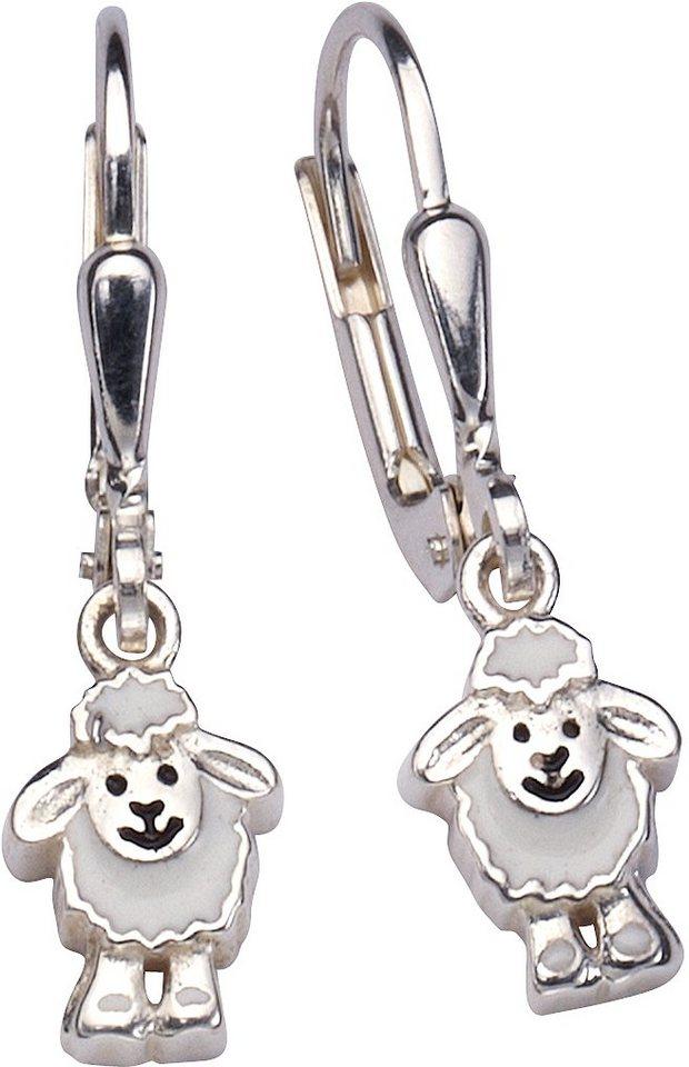 firetti Paar Ohrhänger, »Schäfchen« in Silber 925-weiß-schwarz