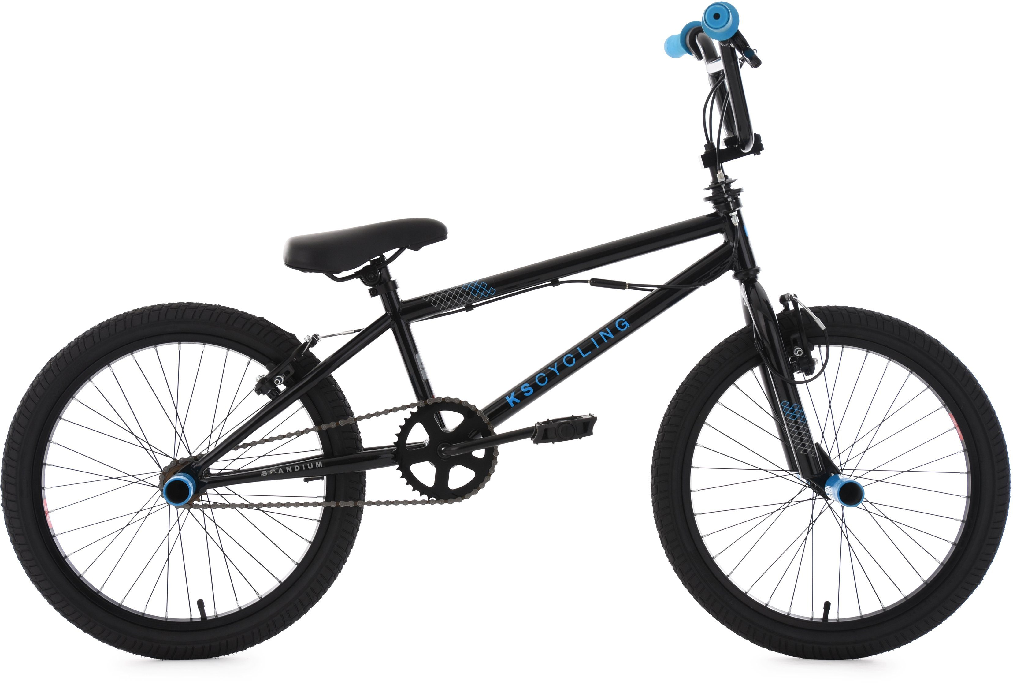 KS Cycling BMX Fahrrad, 20 Zoll, schwarz-blau, »Scandium«