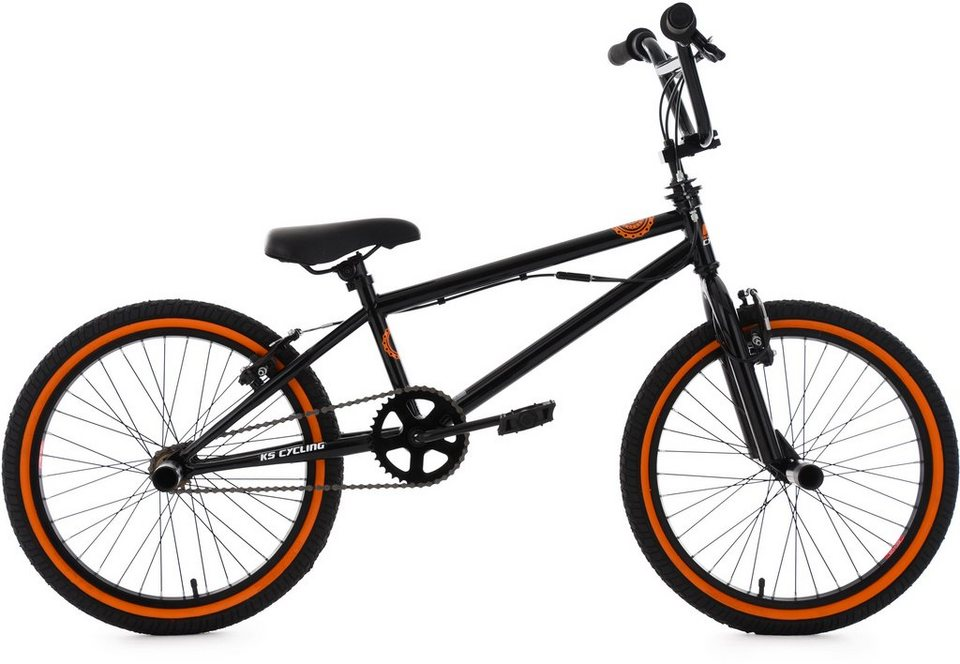 ks cycling bmx fahrrad 20 zoll schwarz orange crxx. Black Bedroom Furniture Sets. Home Design Ideas