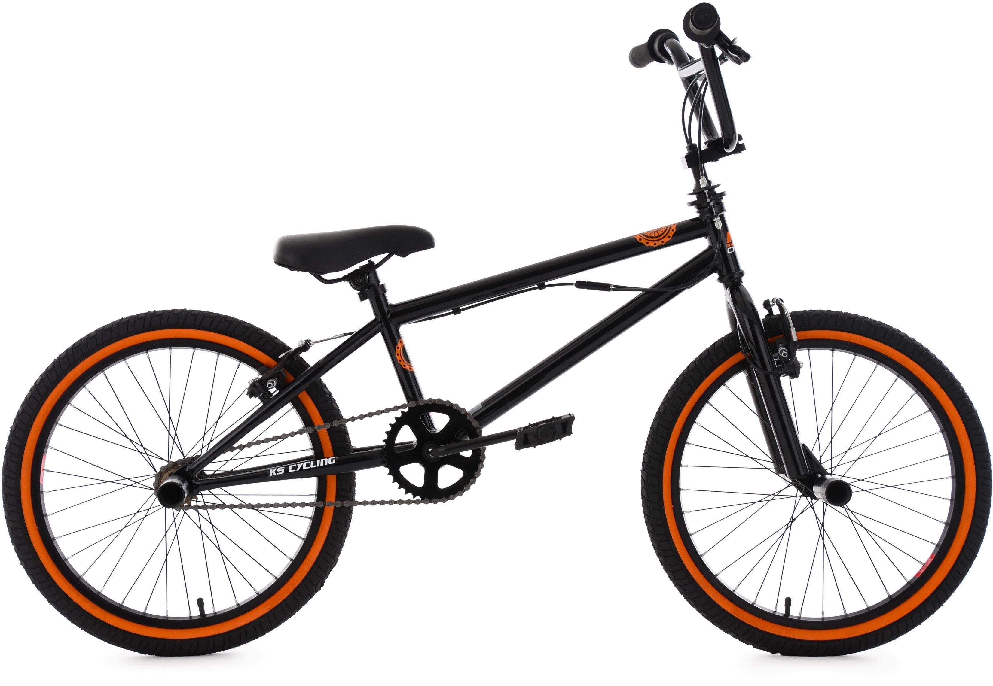 KS Cycling BMX Fahrrad, 20 Zoll, schwarz-orange, »CRXX«