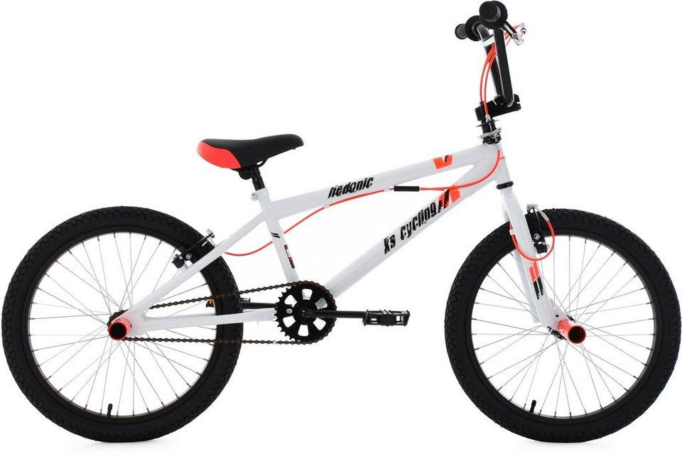 KS Cycling BMX Fahrrad, 20 Zoll, weiß-rot, »Hedonic« in weiß-rot