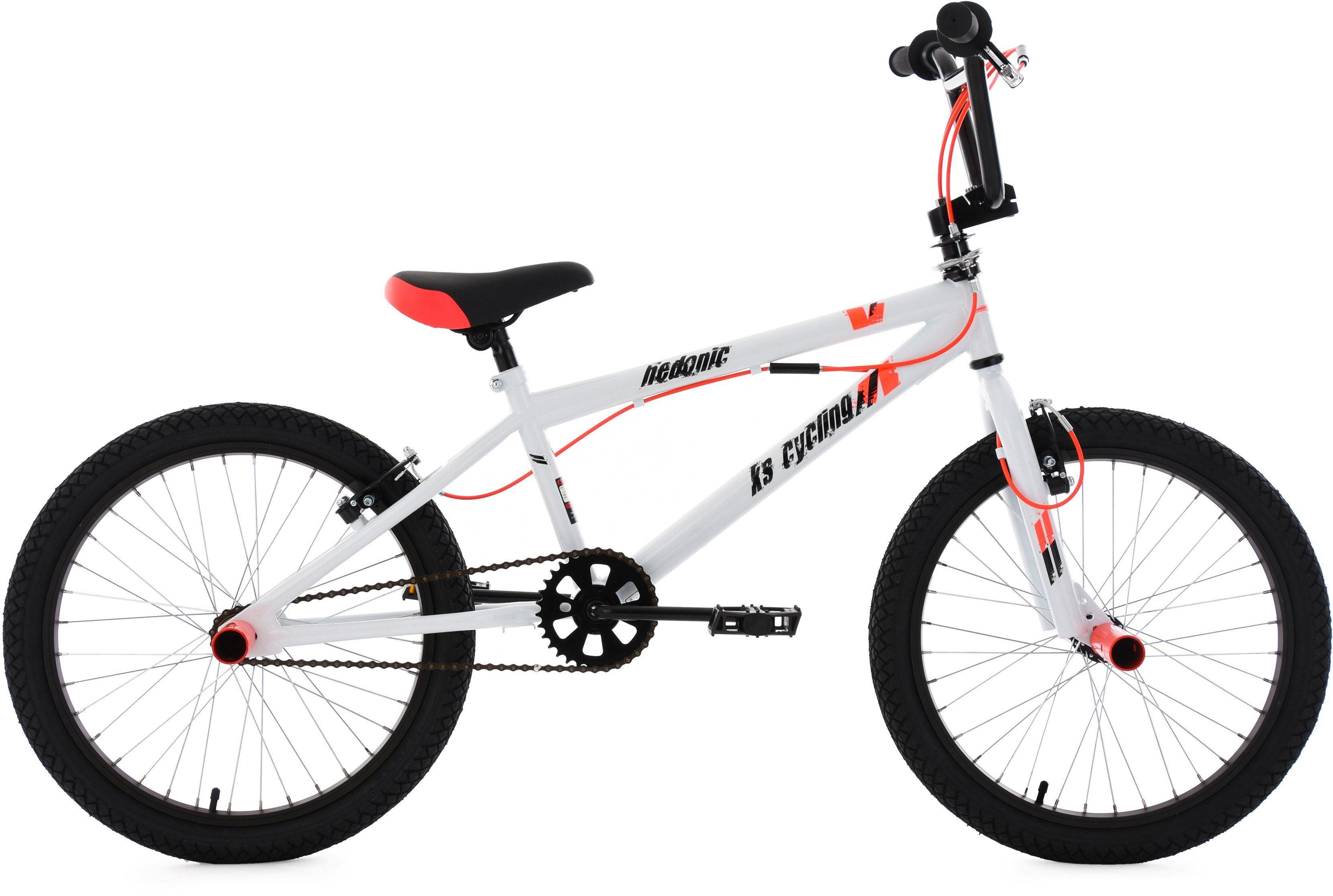 KS Cycling BMX Fahrrad, 20 Zoll, weiß-rot, »Hedonic«