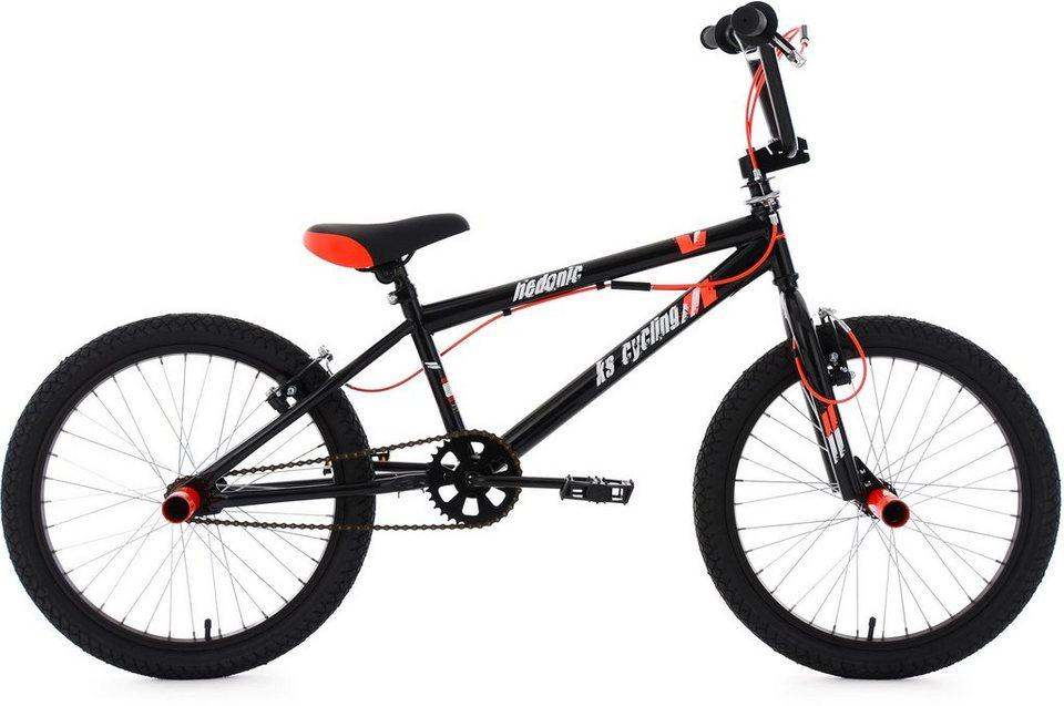 KS Cycling BMX Fahrrad, 20 Zoll, schwarz-rot, »Hedonic« in schwarz-rot