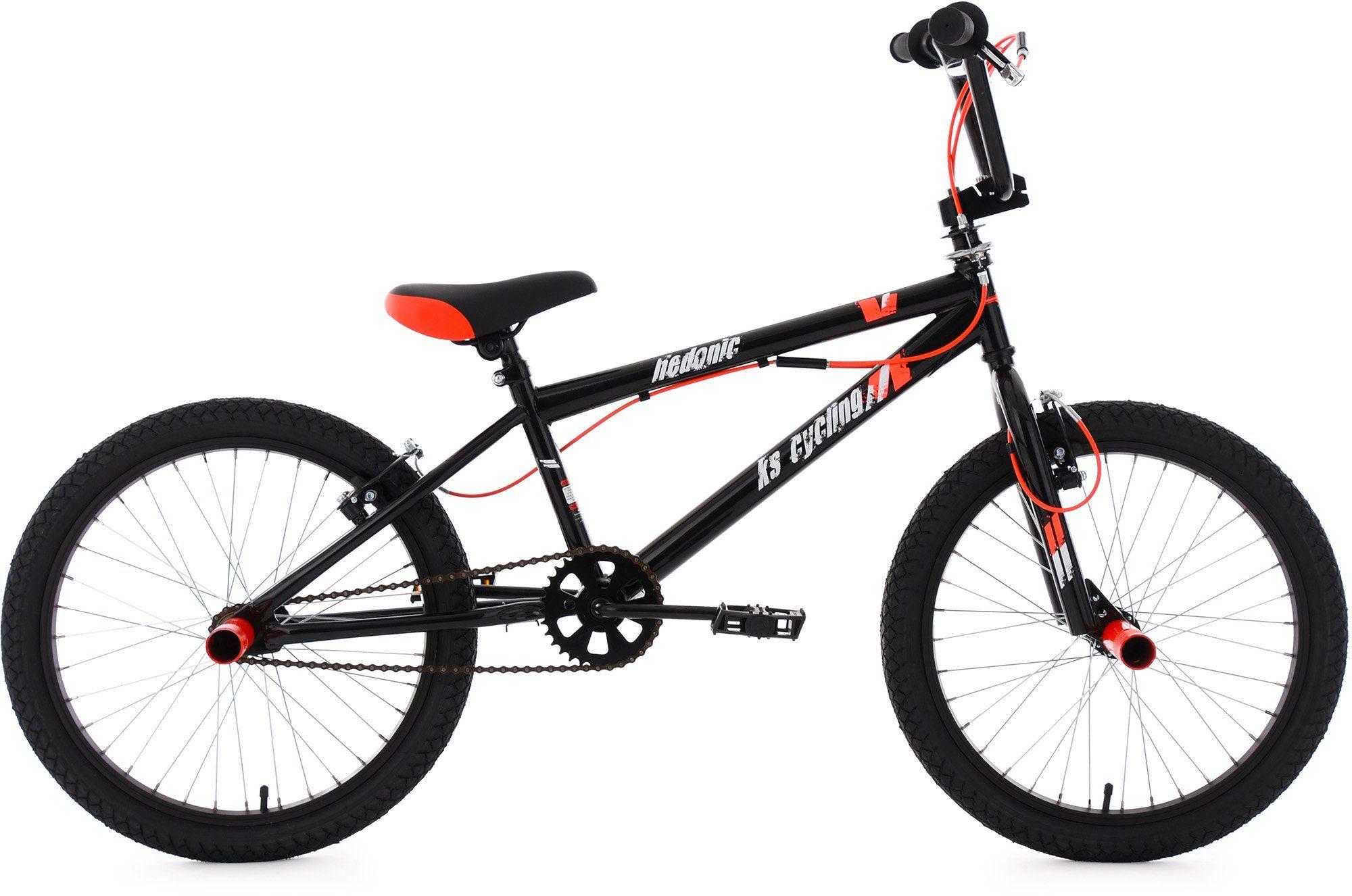 KS Cycling BMX Fahrrad, 20 Zoll, schwarz-rot, »Hedonic«