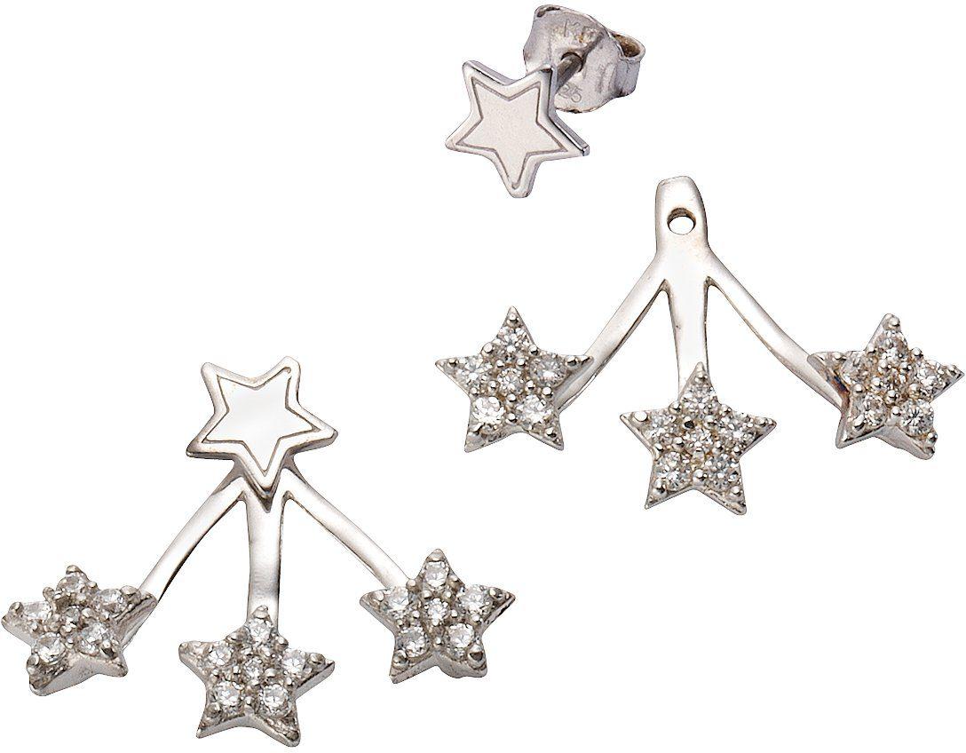 firetti Paar Ohrstecker, mit abnehmbaren Einhängern und Zirkonia, »Sterne«