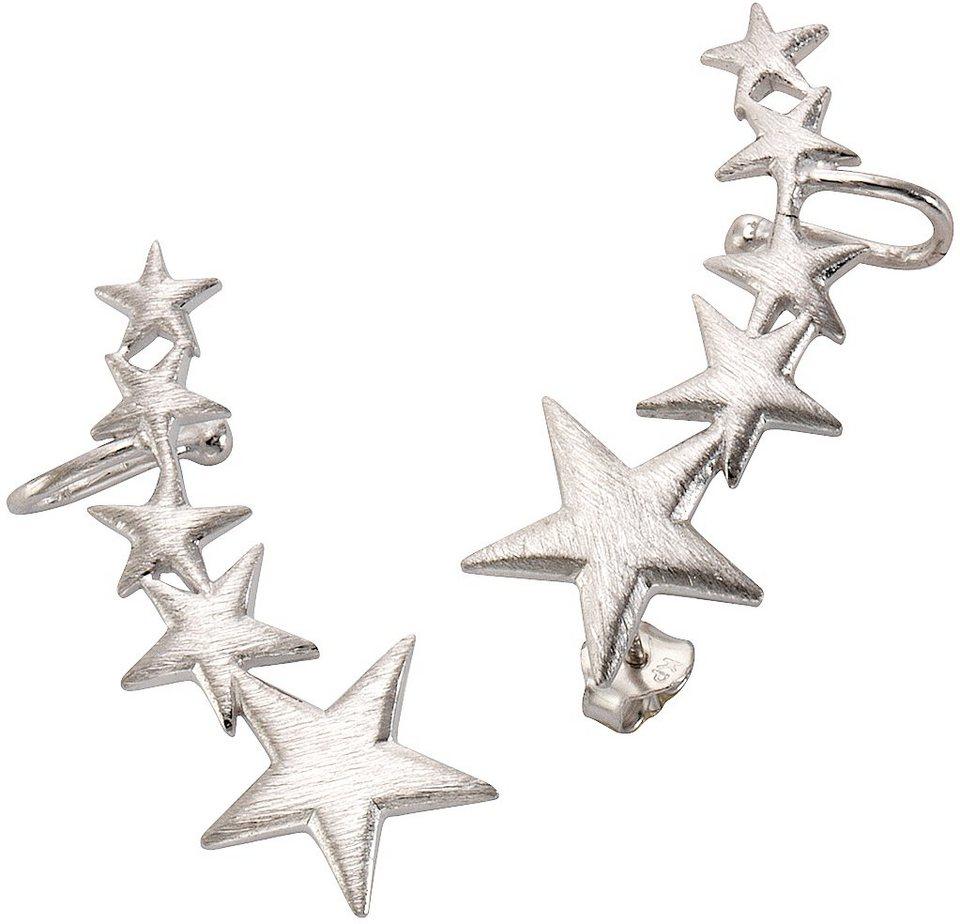 firetti Paar Ohrstecker mit Ohrklemme, »Ear Cuffs, Sterne« in silber 925