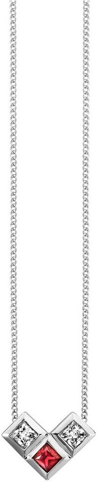 caï Women Kette mit Anhänger »C1658N/90/D1/45« mit Rubinen und Zirkonia in Silber 925-rot
