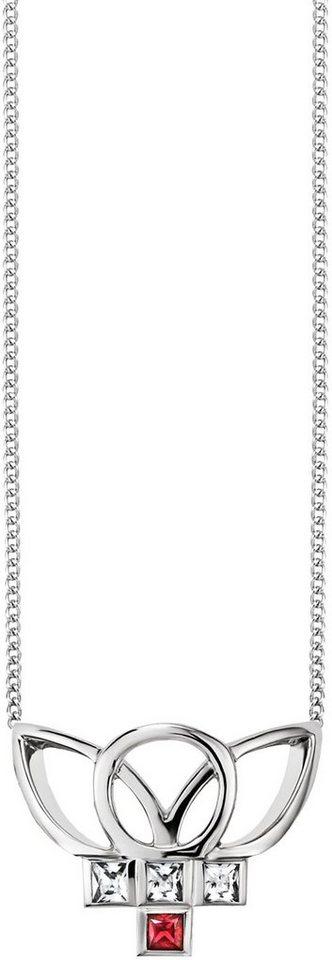 caï Women Kette mit Anhänger »C1667N/90/75/45« mit Rubin und Zirkonia in Silber 925-rot