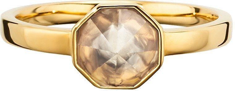 caï Women Ring »C1678R/90/AD« mit Kristallstein in Silber 925-goldfarben vergoldet