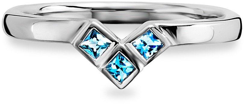 caï Women Ring »C1662R/90/L2« mit Zirkonia in Silber 925-blau