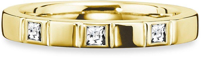 caï Women Ring »C1673R/90/03« mit Zirkonia in Silber 925-goldfarben vergoldet