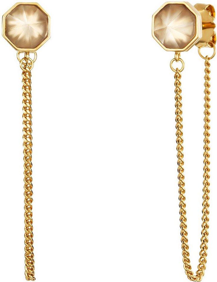 caï Women Paar Ohrstecker »C1679E/90/AD« mit Kristallsteinen in Silber 925-goldfarben vergoldet