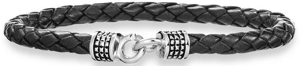 caï Men Armband, »C4183B/90/00/21« in Silber 925-schwarz