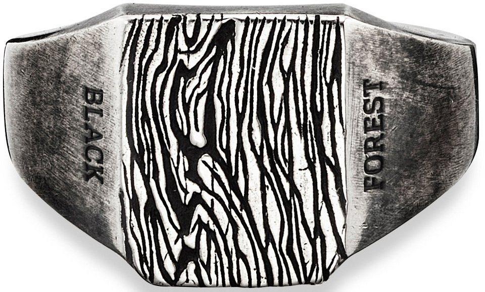 caï Men Ring, »C4195R/90/00« in silberfarben-schwarz