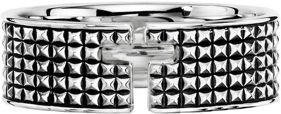 caï Men Ring, »Kreuz, C4179R/90/00« in Silber 925-schwarz