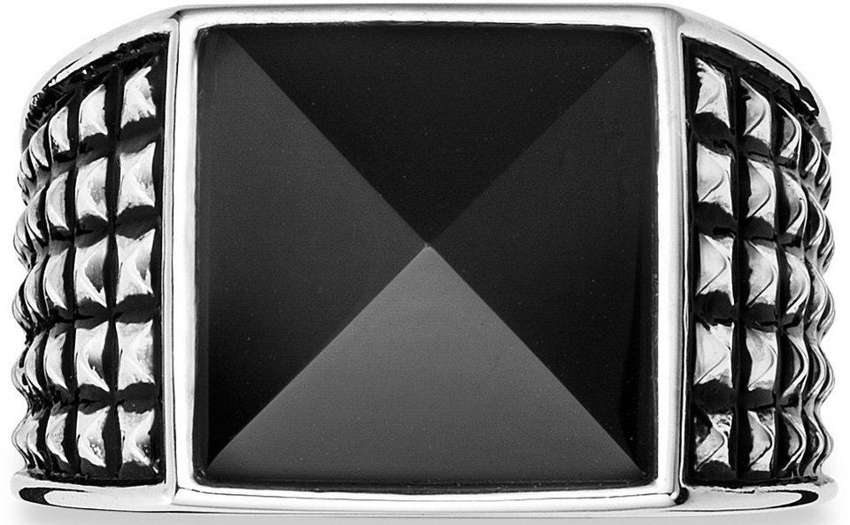 caï Men Ring mit Onyx, »C4181R/90/13« in Silber 925-schwarz
