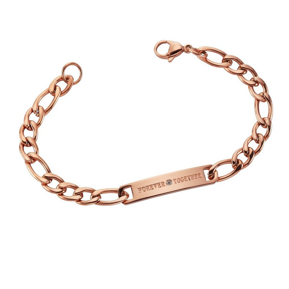 firetti Armband »FOREVER TOGETHER« mit Zirkonia in roségoldfarben