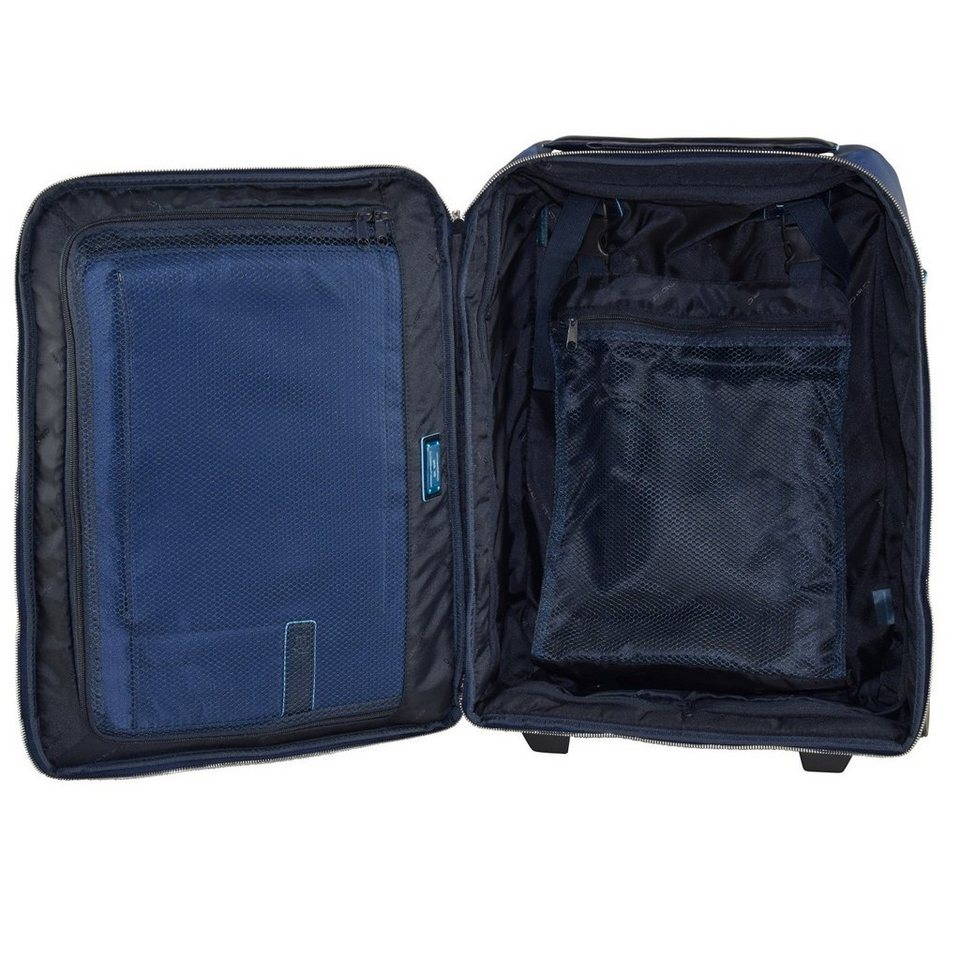 Piquadro Celion 2-Rollen Business Trolley 50 cm Laptopfach in blau