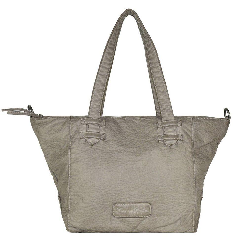 Fritzi aus Preußen Jasmin Washed Handtasche 40 cm in grey