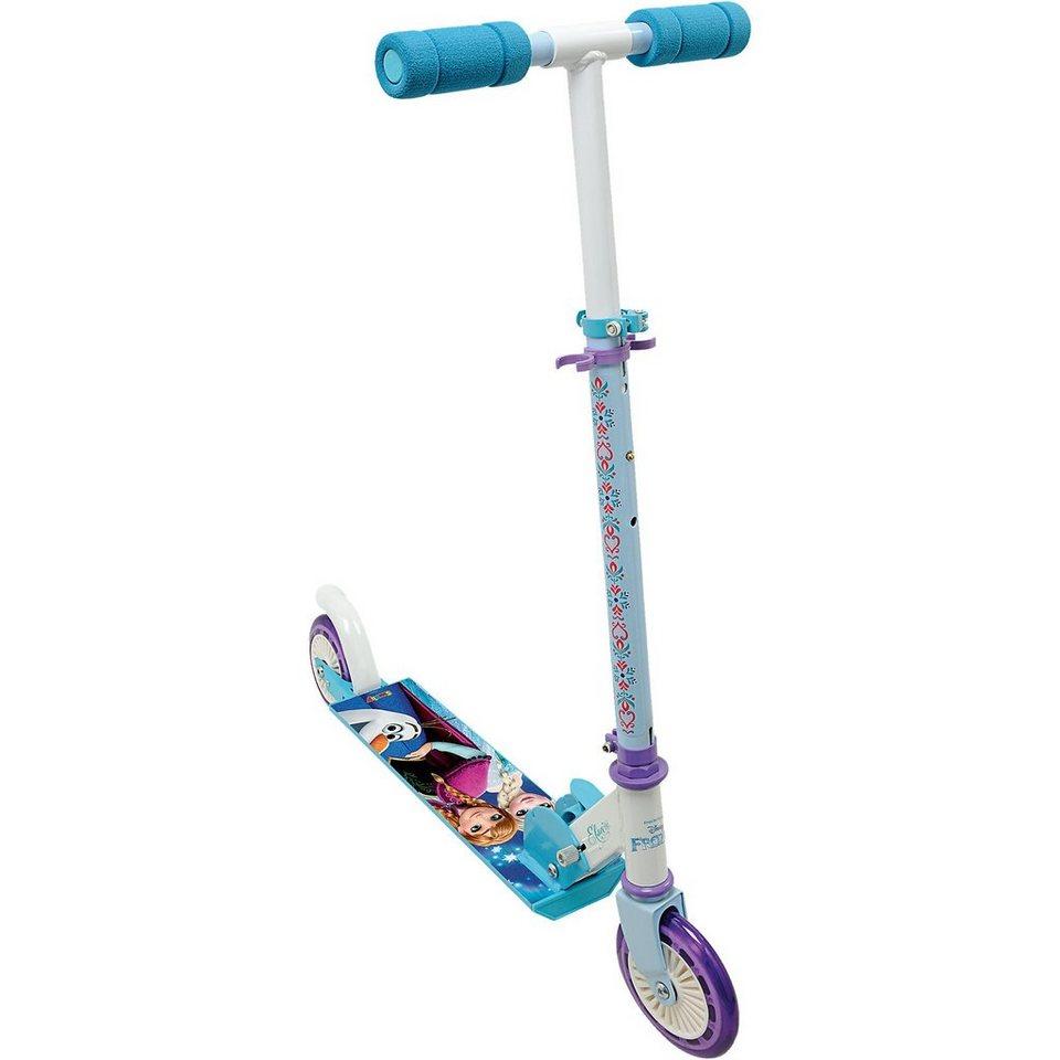 Smoby Frozen Scooter mit Bremse klappbar in blau