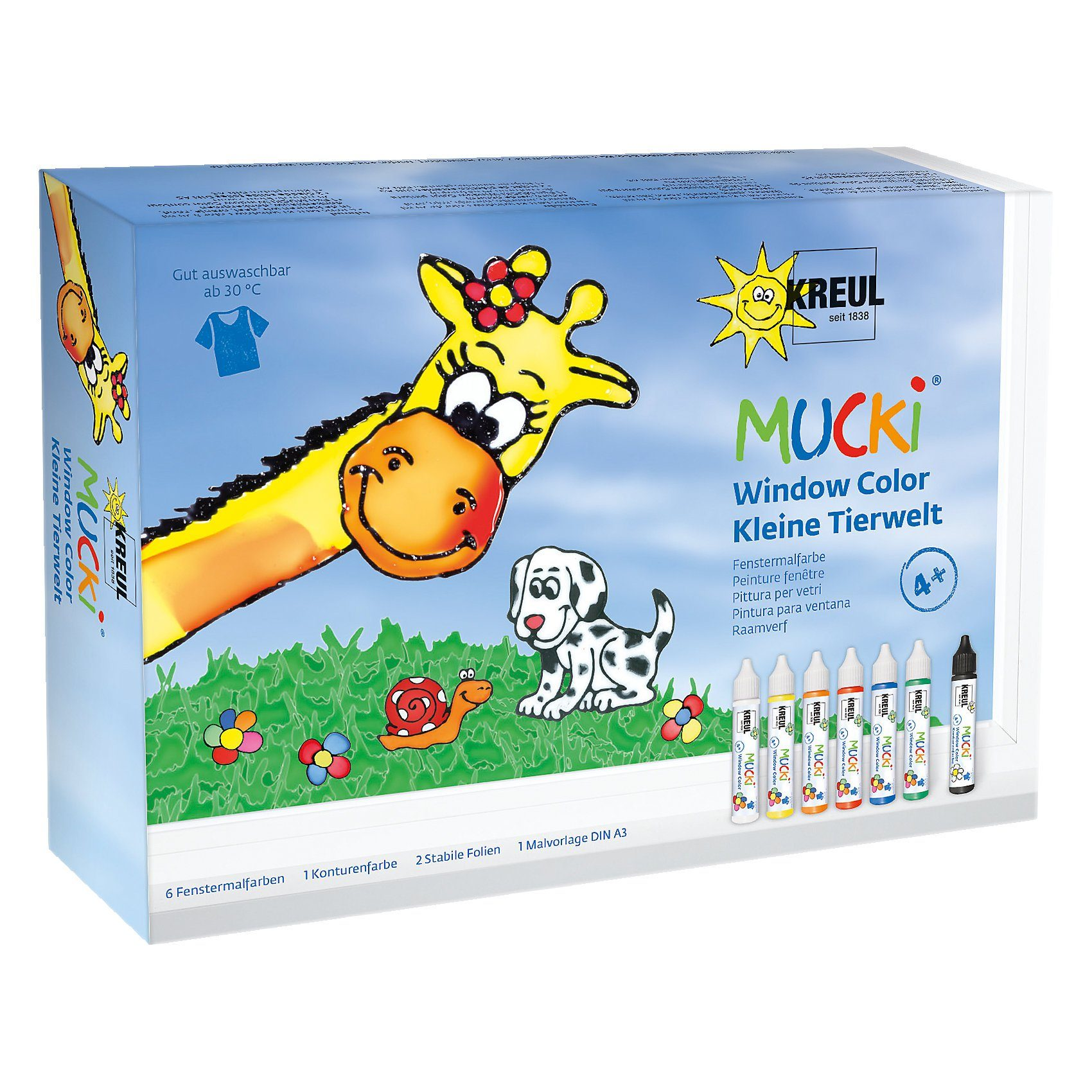C. KREUL Mucki Window Color 7er Set Kleine Tierwelt