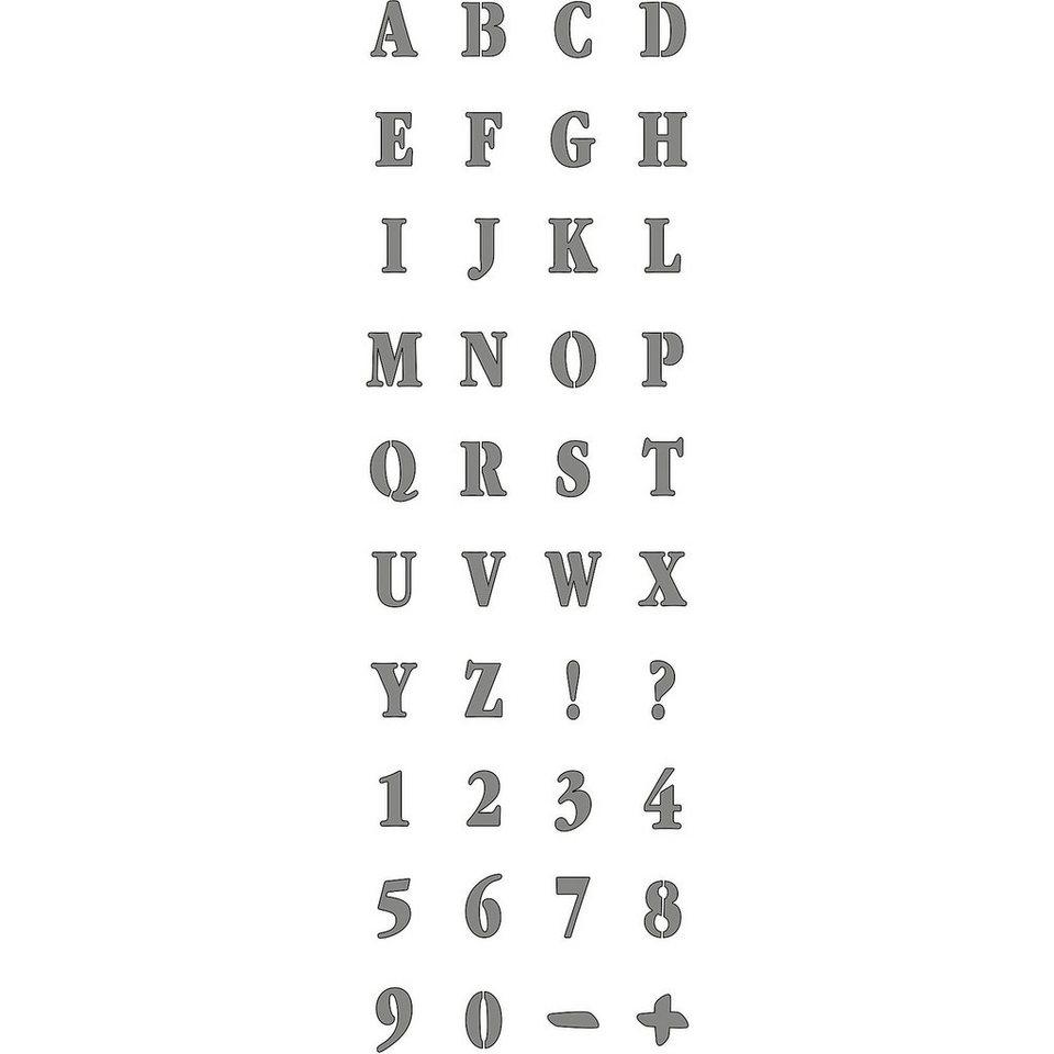 C. KREUL Feste Designschablone, selbstklebend Alphabet 13 x 40 cm