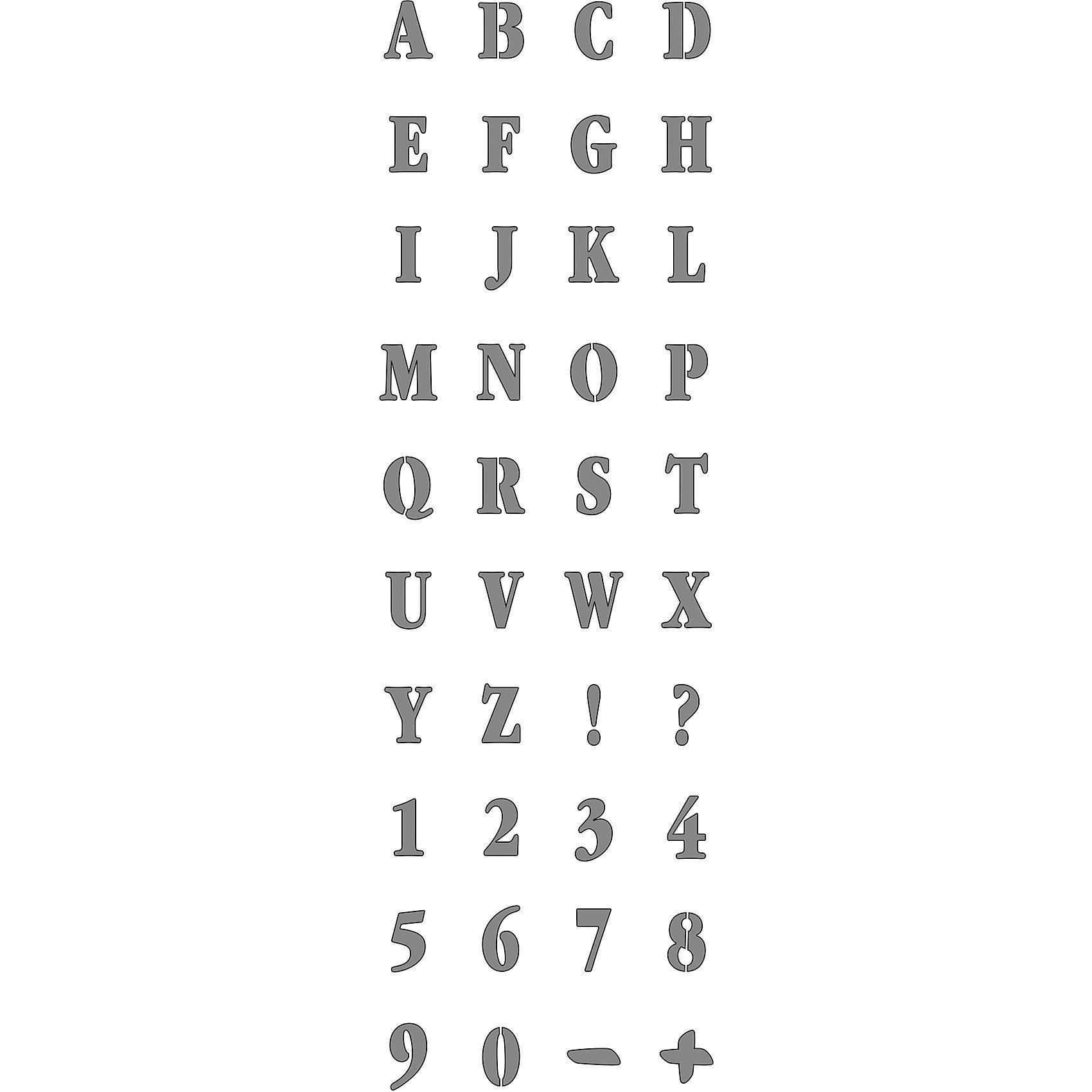 C. KREUL Feste Designschablone Alphabet, 13 x 40 cm