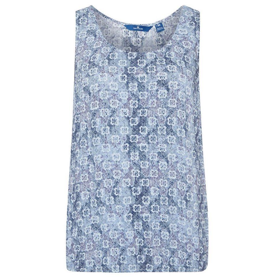 TOM TAILOR Bluse »gemustertes Blusentop« in light powder blue