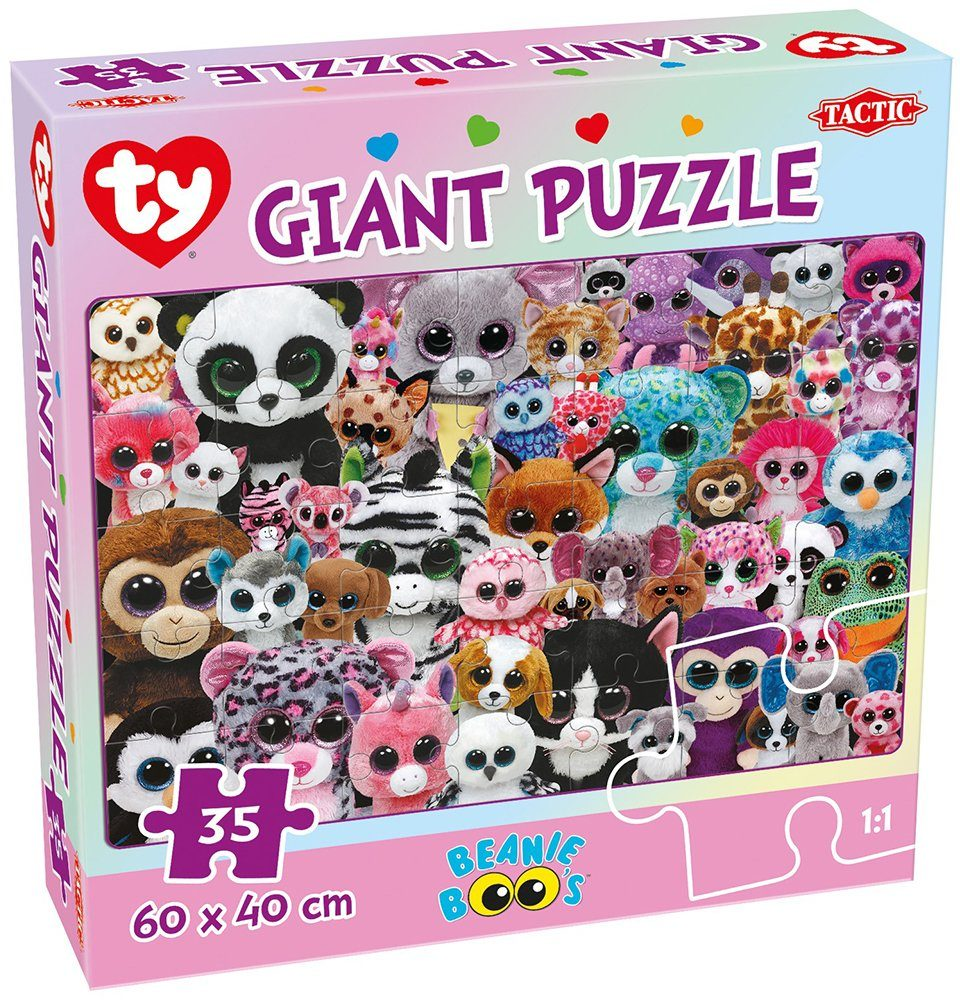 Ty, Kinderpuzzle, 35 Teile, »Tactic Beanie Boo´s™ Giant Puzzle«