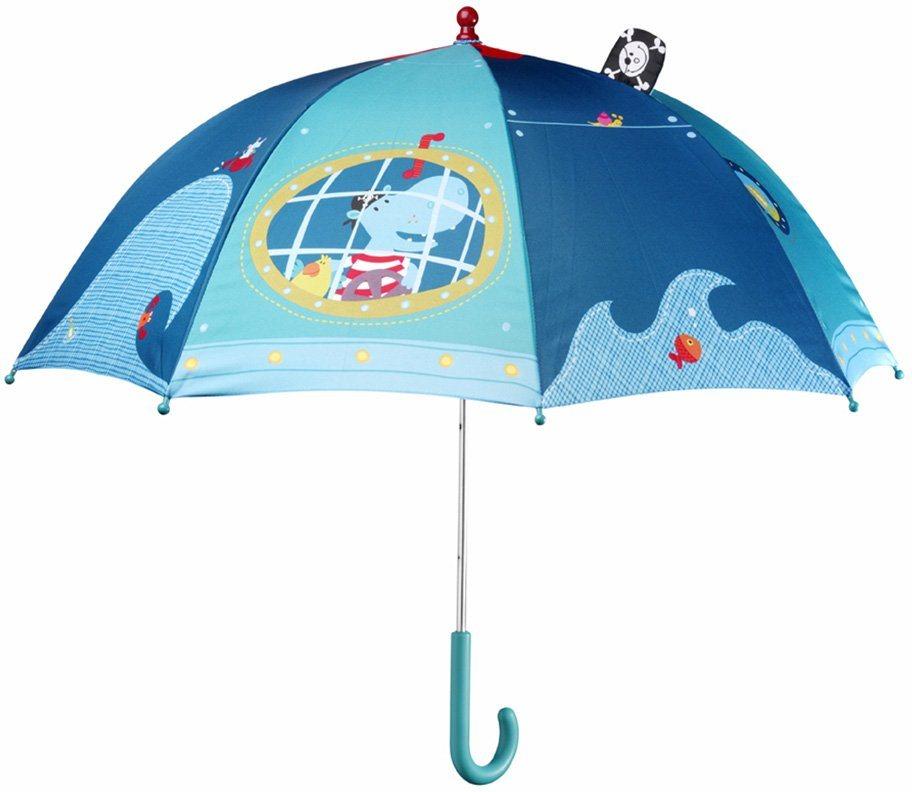 Lilliputiens, Schirm mit Sichtfenster, »Arnold Regenschirm« in blau