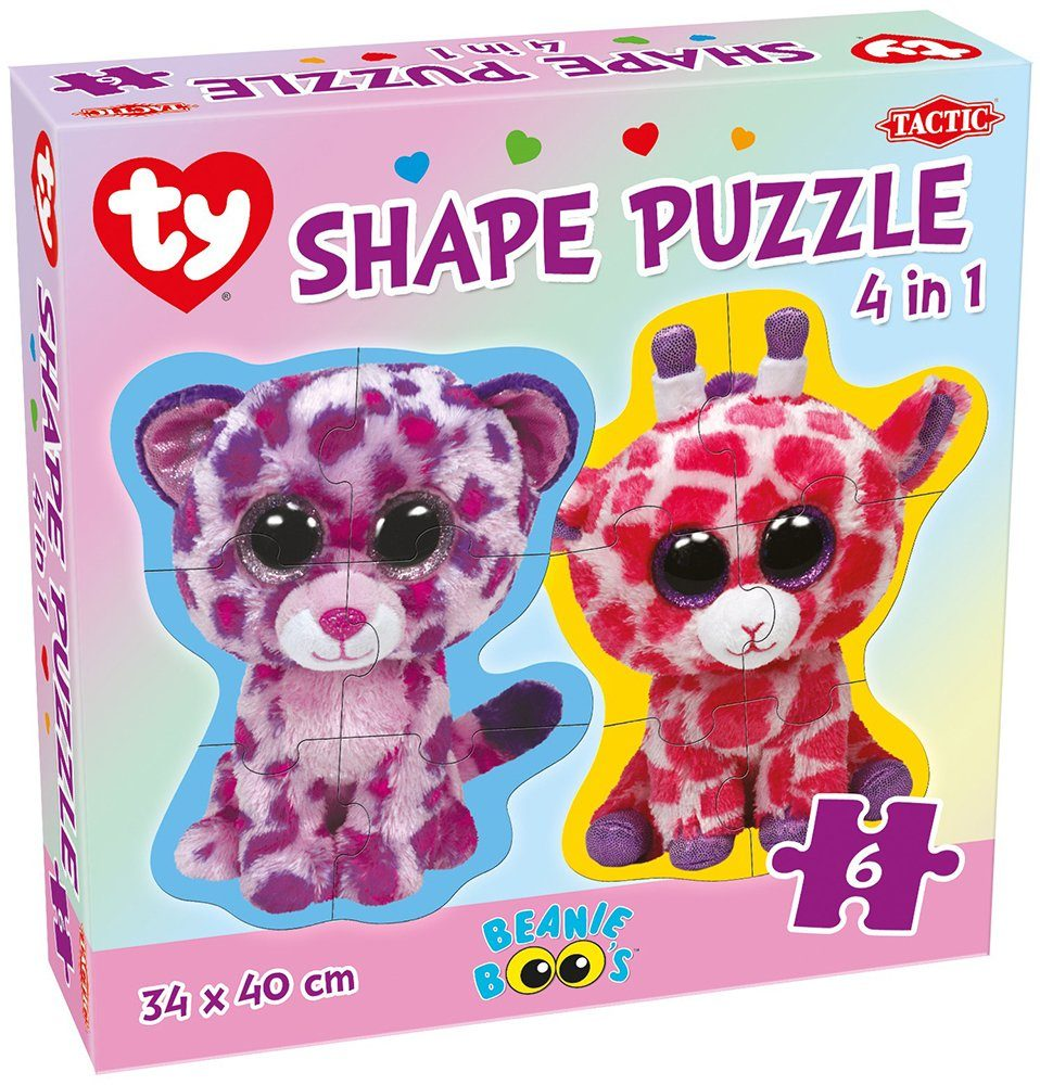 Ty, Kinderpuzzle, 6 Teile, »Tactic Beanie Boo´s™ Shape Puzzle«