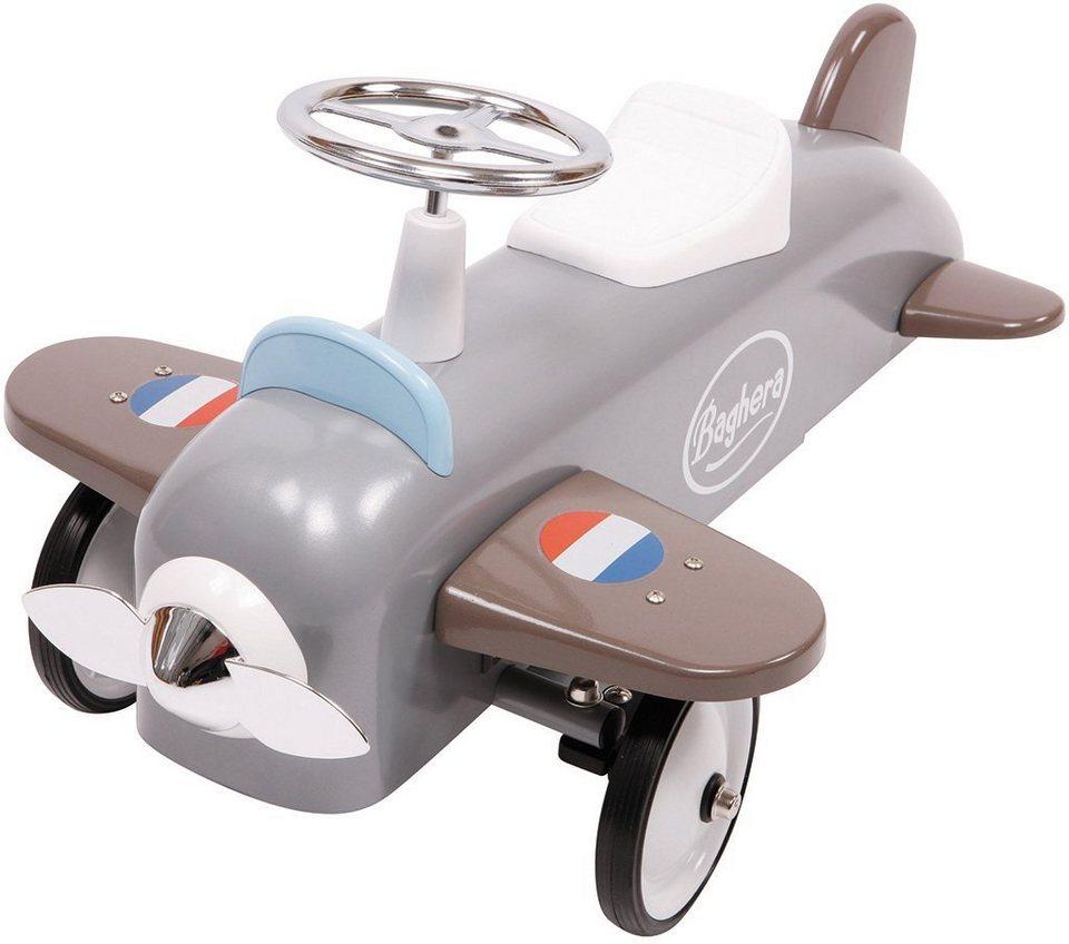 Baghera Rutscherfahrzeug aus Metall, »Rutscher Speedster Flugzeug« in grau