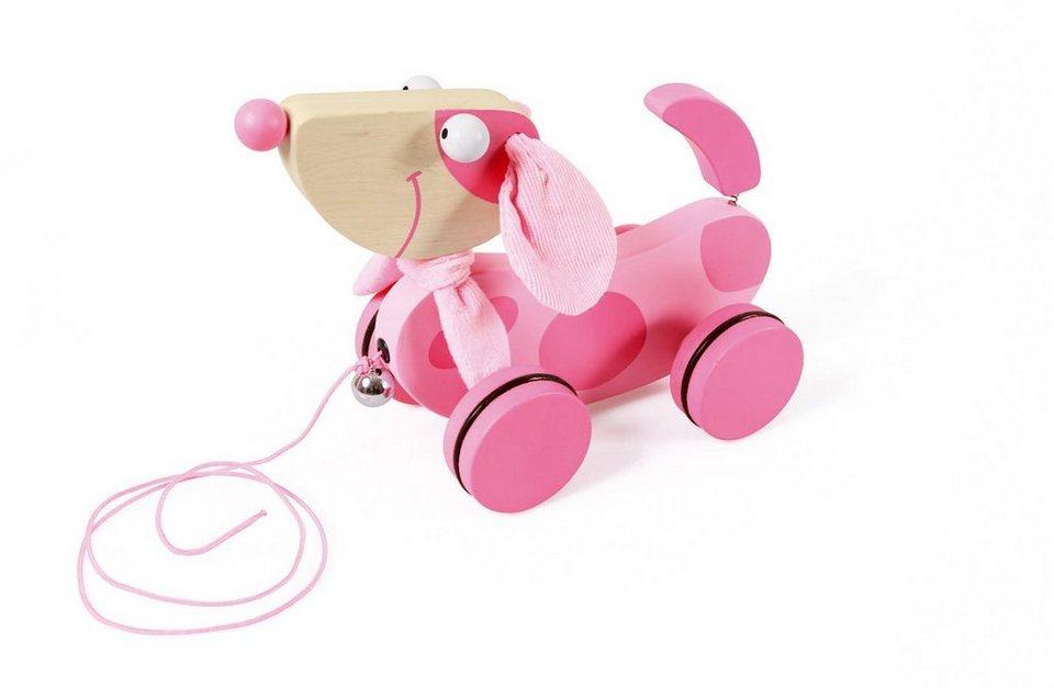 Scratch, Nachziehtier mit Glöckchen, »Lily« in rosa