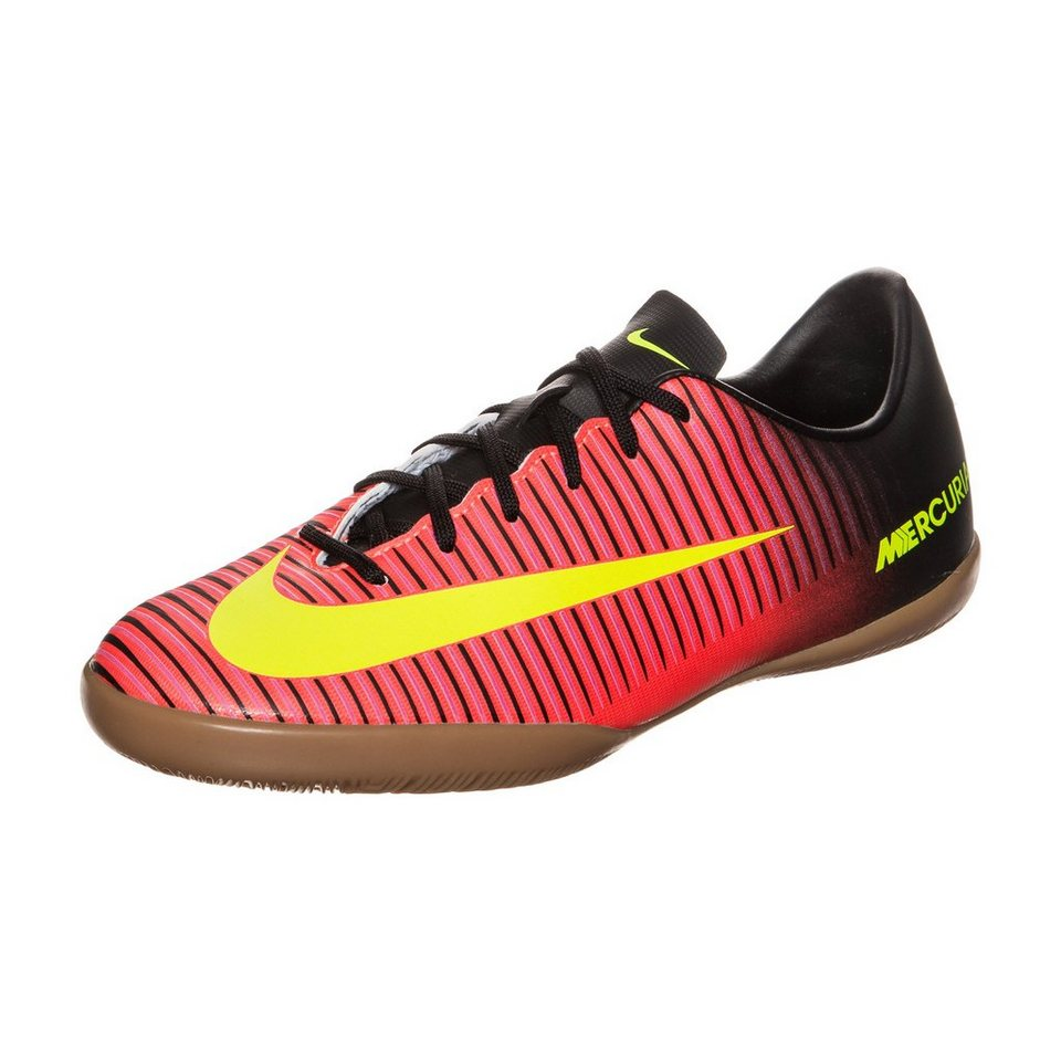 NIKE Mercurial Vapor XI Indoor Fußballschuh Kinder in orange / gelb / pink