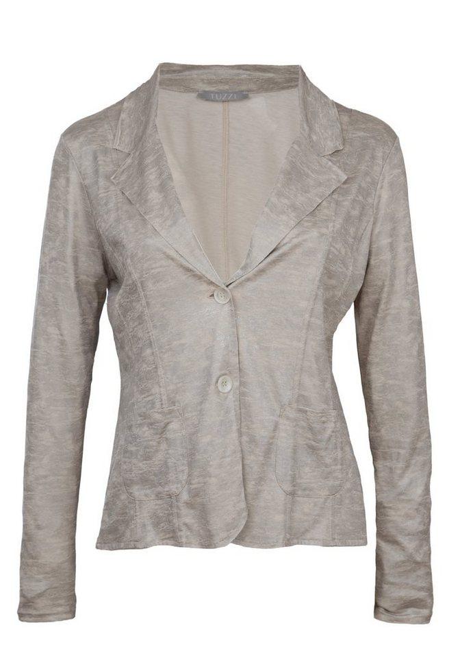 TUZZI Jersey-Blazer in stone figured