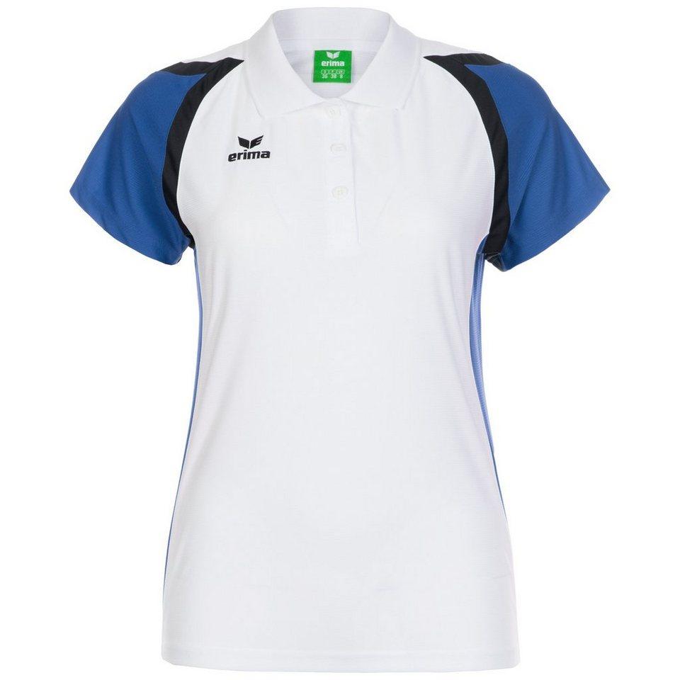 ERIMA Razor 2.0 Trainingspolo Damen in weiß / blau